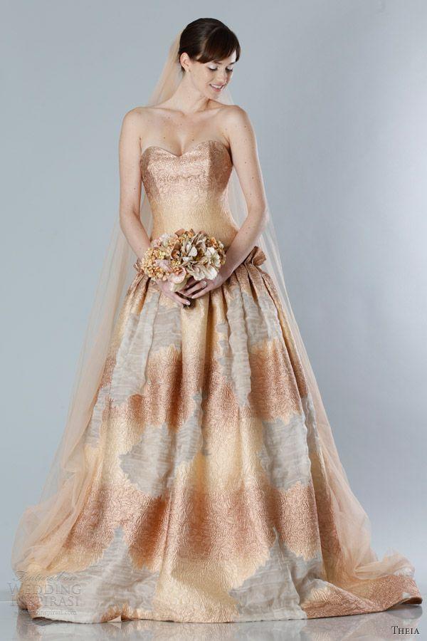 Autumn color wedding dresses