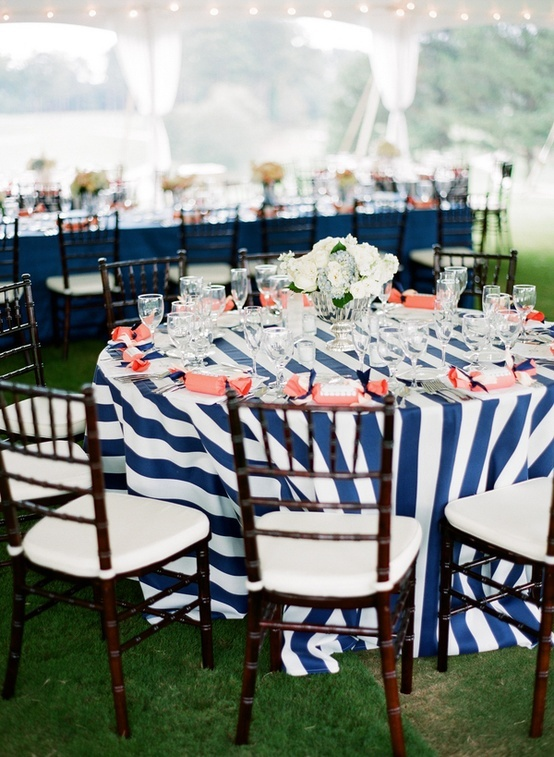 Navy Blue And Coral Wedding Table Decorations : navy wedding table settings - pezcame.com