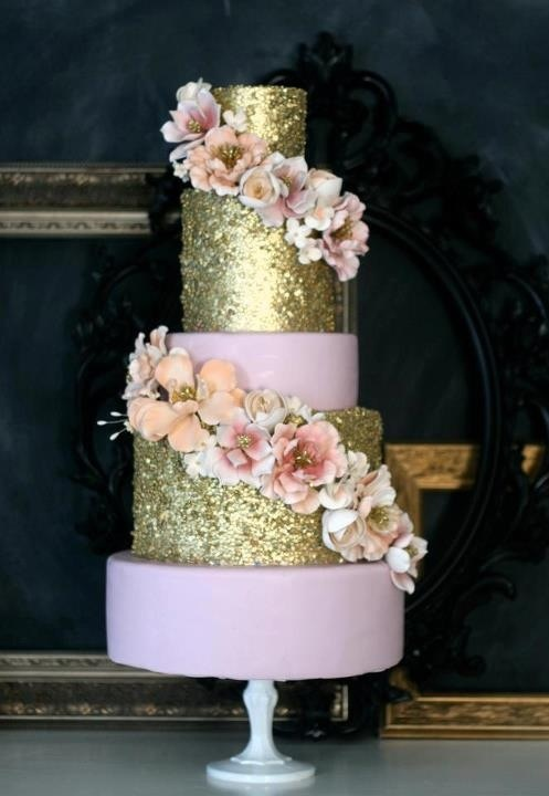 gold glitter wedding cakes wedding cake trend glitter wedding cakes arabia weddings 14782