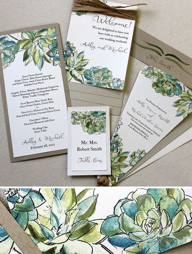 A Nature Inspired Wedding Succulent Theme