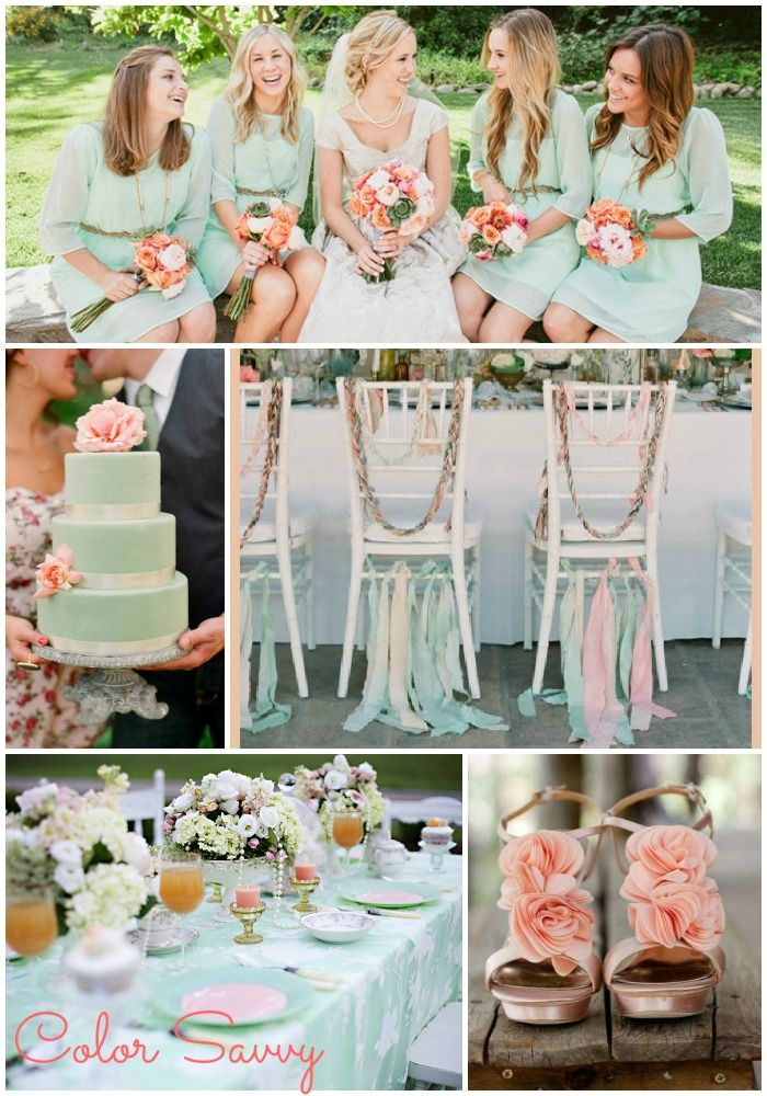 Your Wedding In Colors Mint Green And Baby Pink