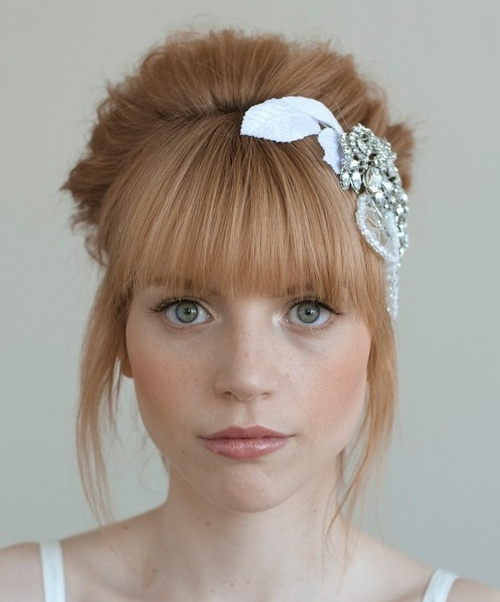 Wedding Hairstyles Fringe: Bridal Hair Trend 2014: Edgy Bangs