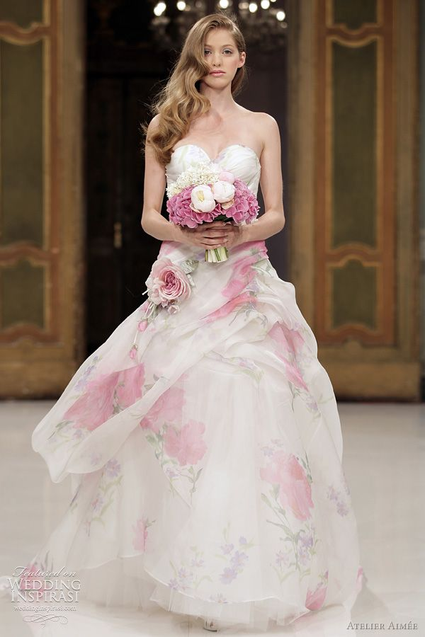 Floral wedding dresses we love for summer arabia weddings floral wedding dresses we love for summer junglespirit Gallery