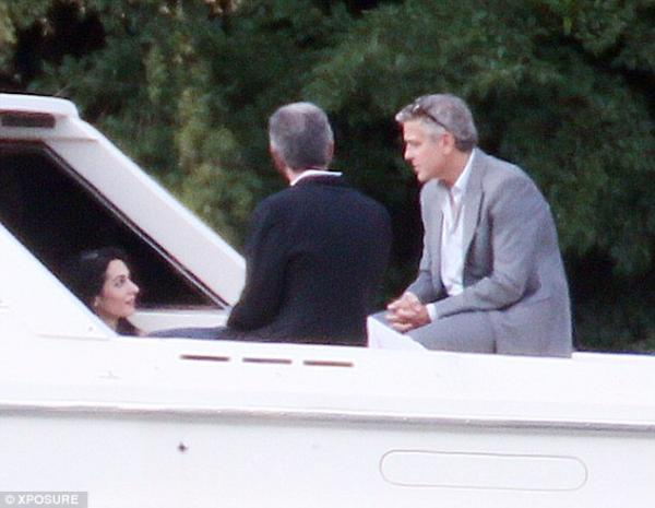 George Clooney And Amal Alamuddin Spend Time With Parents