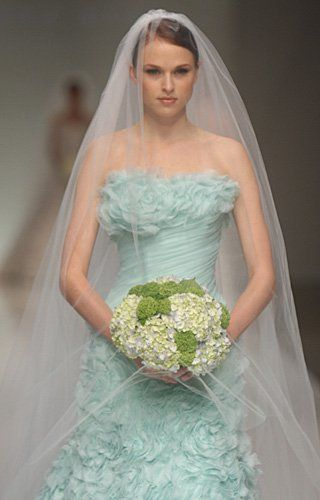 Mint green wedding dresses for summer 2015