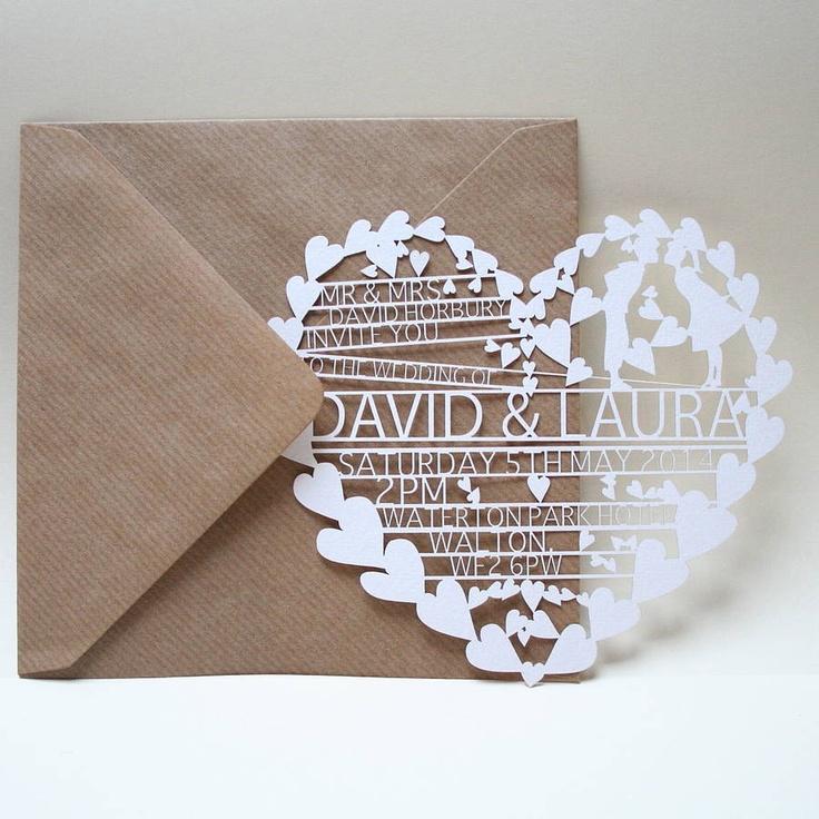Wedding Invitation Card Trend: Laser Cut Invites