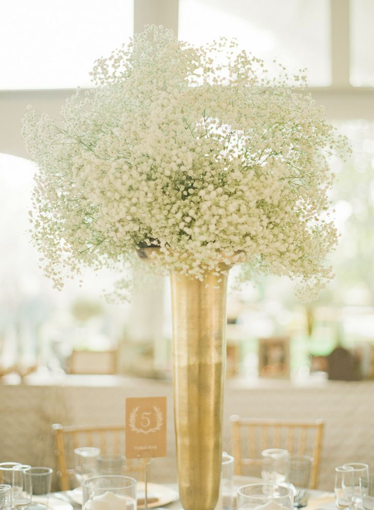 Beautiful tall vase centerpieces for your wedding