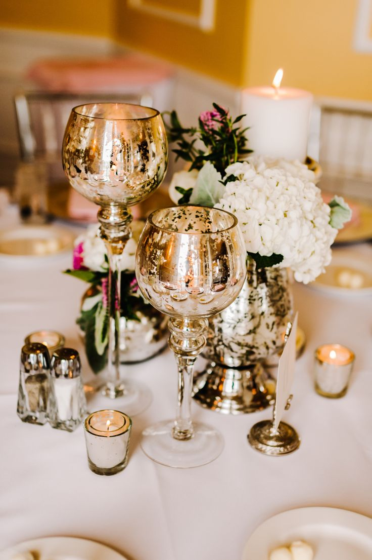here are some mercury glass ideas that are beautiful for a wedding