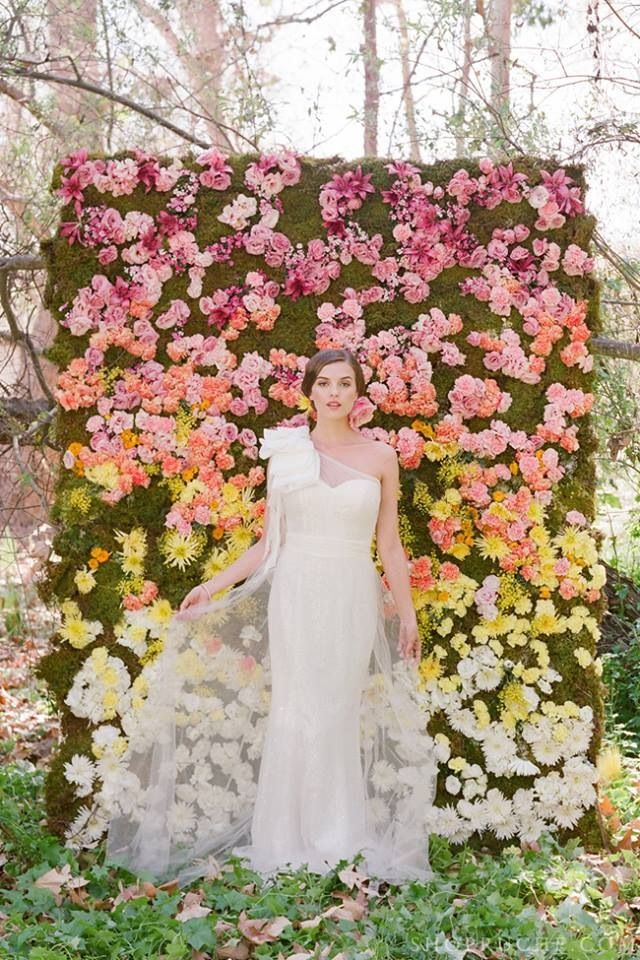 Wedding Flower Trend Wall For Your Day