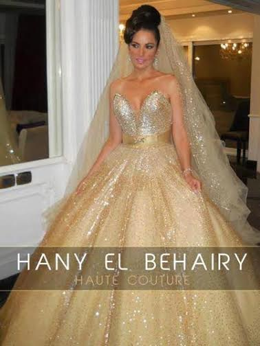 Tunisian Actress Dorra Stuns In Wedding Dress By Hany El