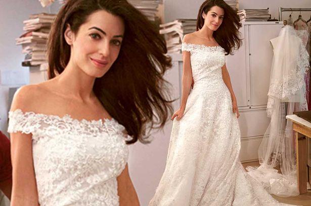 Amal Wedding alamuddin wedding dress designer oscar fotos