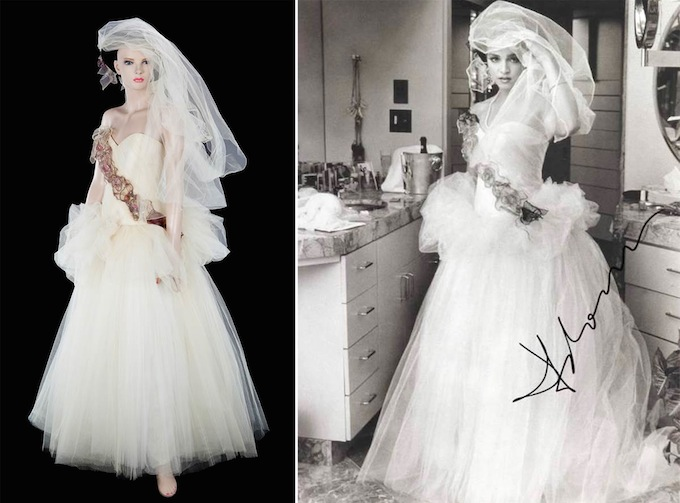 Madonna S Wedding Dress Goes On Auction Arabia Weddings