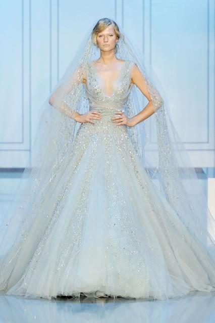 Elsa Inspired Wedding Dress Elie Saab