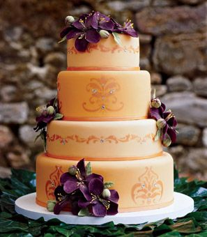 purple and orange wedding cake ideas your wedding in colors rustic orange and purple arabia 18864
