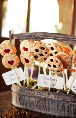 125+ personal pies for a gorgeous wedding last weekend ... |Personal Pies Wedding
