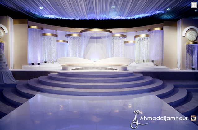 Beautiful kosha ideas by arab wedding planners arabia for Arabic wedding stage decoration