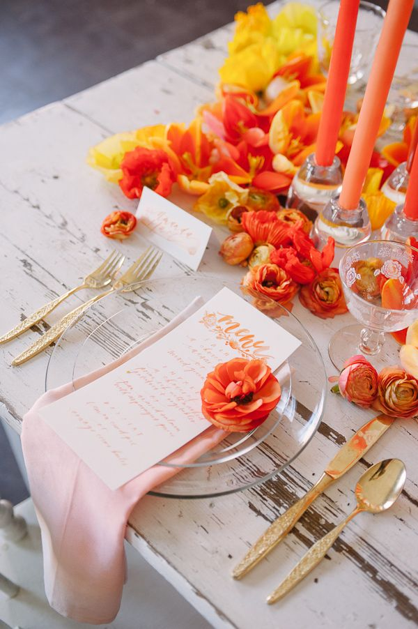 Your Wedding In Colors: Yellow And Orange