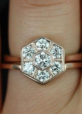 Wedding Ring Trend The Hexagon Ring Arabia Weddings