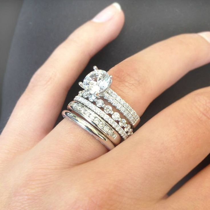 stacked diamond now infinity trending stackable angara rings