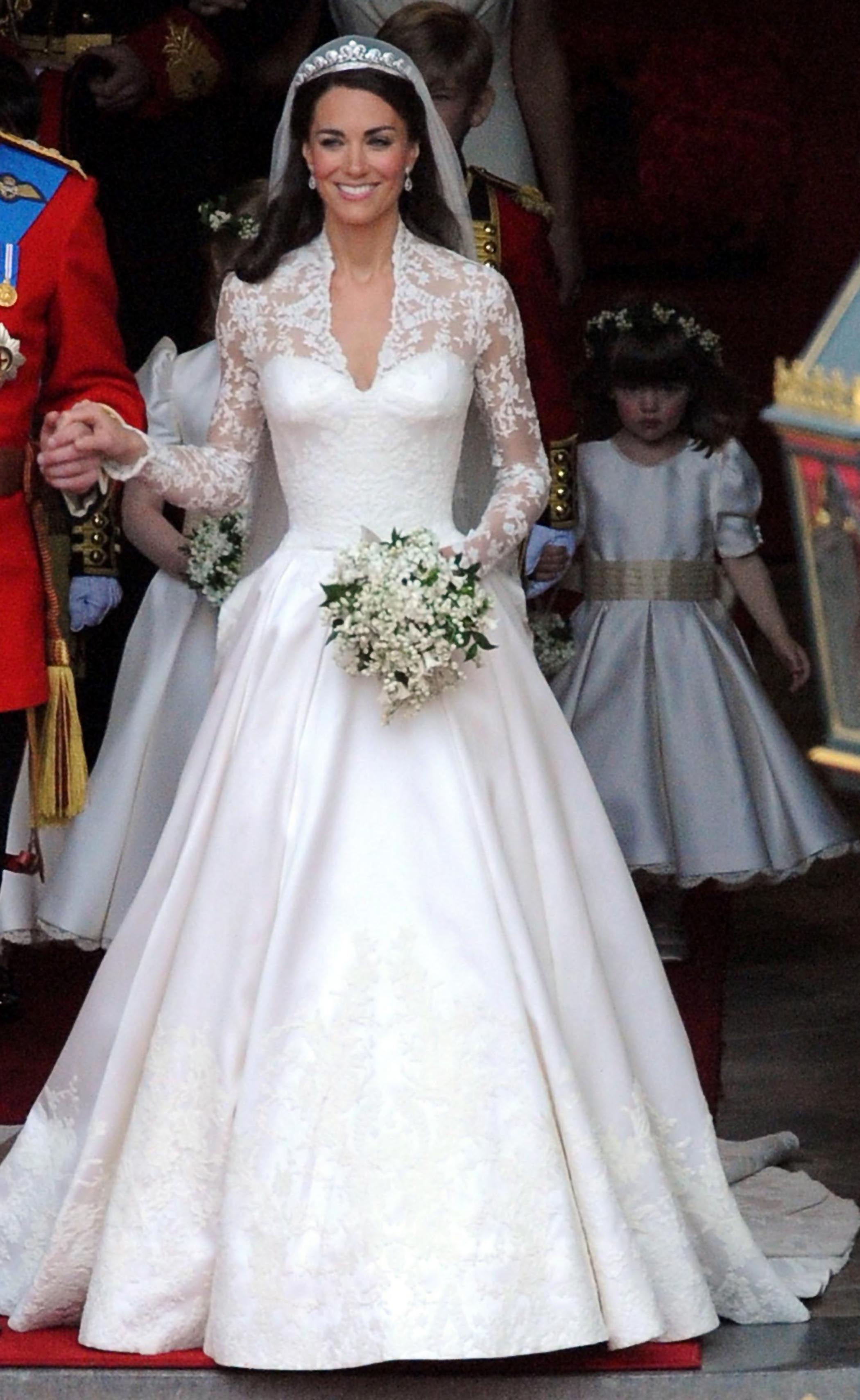 Beautiful royal wedding gowns to inspire you arabia weddings katemiddleton ombrellifo Gallery