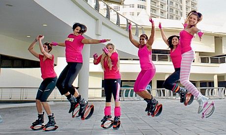 the latest fitness exercise for brides is the kangoo workout