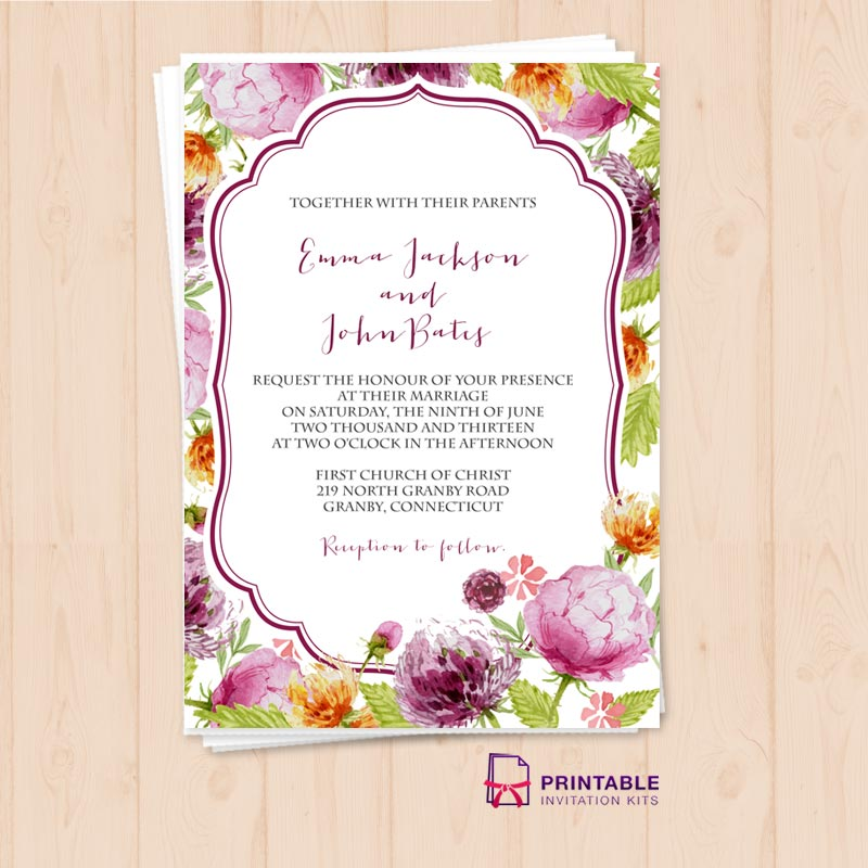 Save with Beautiful Free Wedding Invite Printables - Arabia Weddings