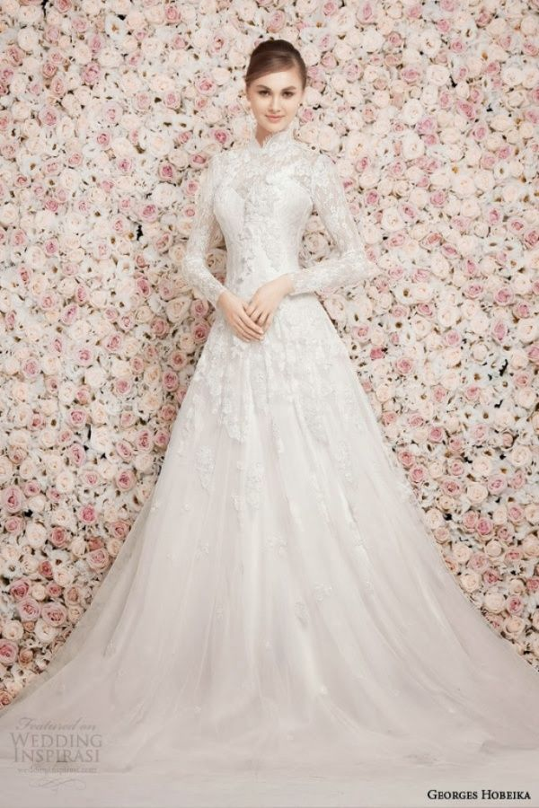 Stunning hijab wedding dresses you will love arabia weddings georgehobeika junglespirit Images