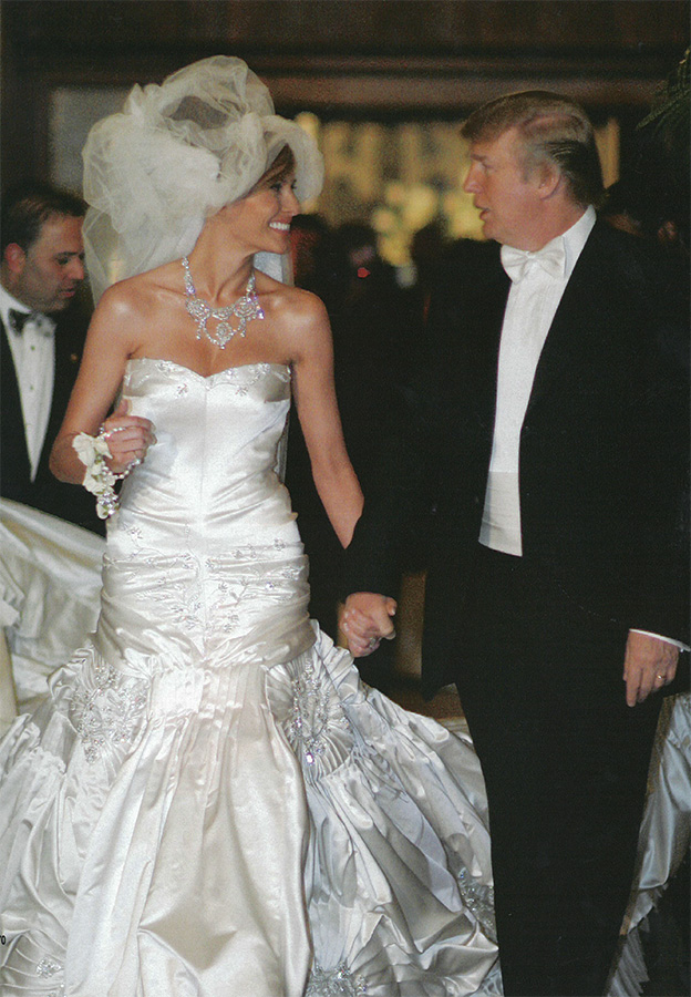 Wedding Dress Inspiration from Melania Knauss Trump - Arabia Weddings