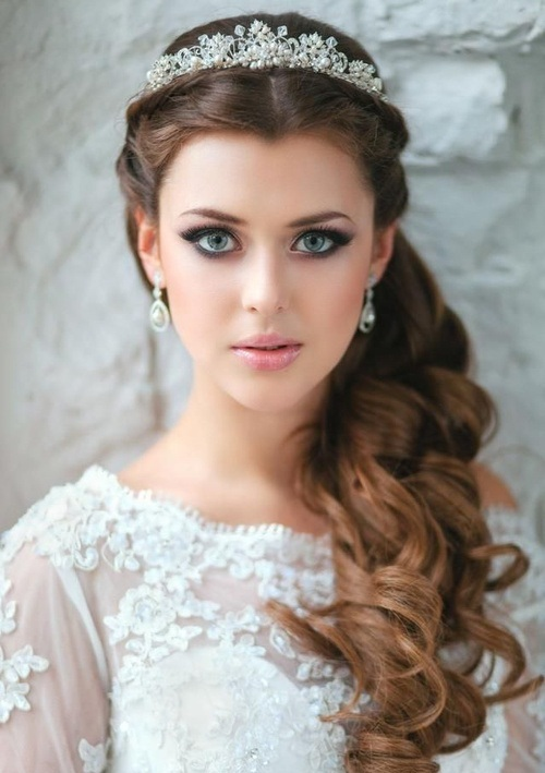 Stunning Bridal Hairdo For Curly Hair Arabia Weddings