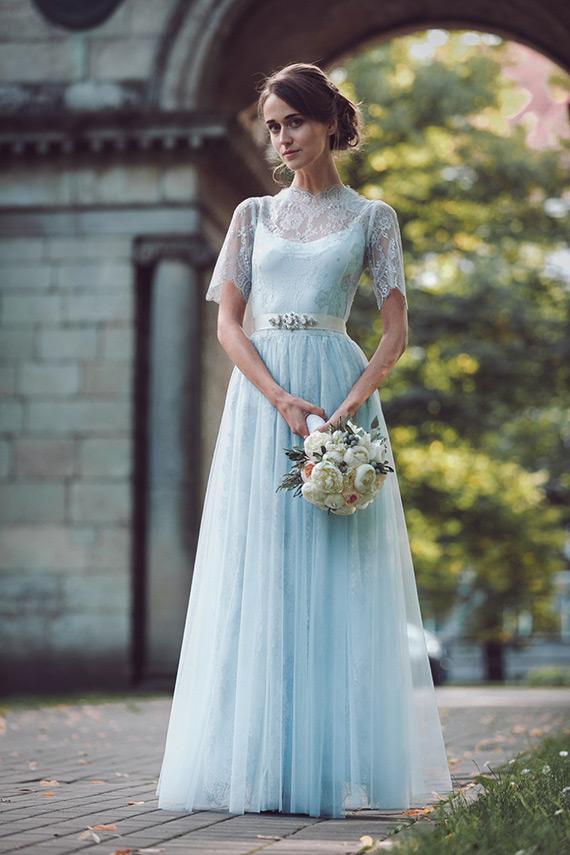 Blue Colored Wedding Dresses 6 Lovely katya katya shehurina