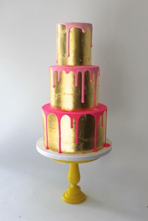 Latest 2016 Wedding Cake Trend Color Drip Cakes Arabia