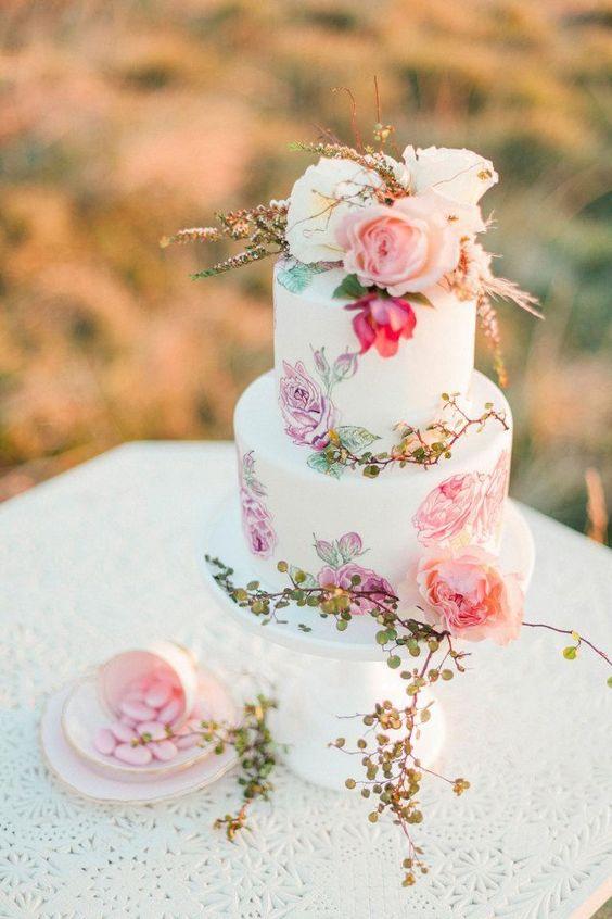 Beautiful Floral Wedding Cakes For Spring Arabia Weddings