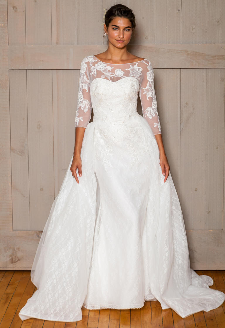 Wedding dresses with detachable skirts arabia weddings Removable skirt wedding dress davids bridal