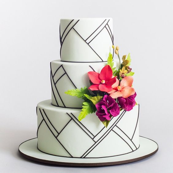 Cake Modern Art : Beautiful Modern Wedding Cakes - Arabia Weddings