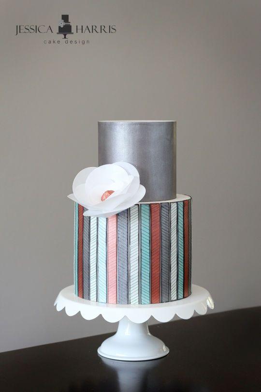 Cake Art Rabia : Modern Art Wedding Cake: Modern art museum wedding blush ...