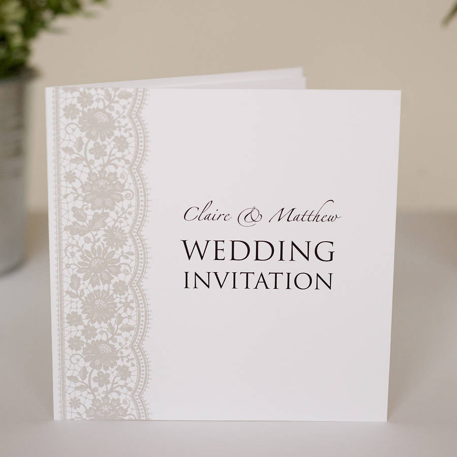 Lace Wedding Invitations For Your Wedding - Arabia Weddings