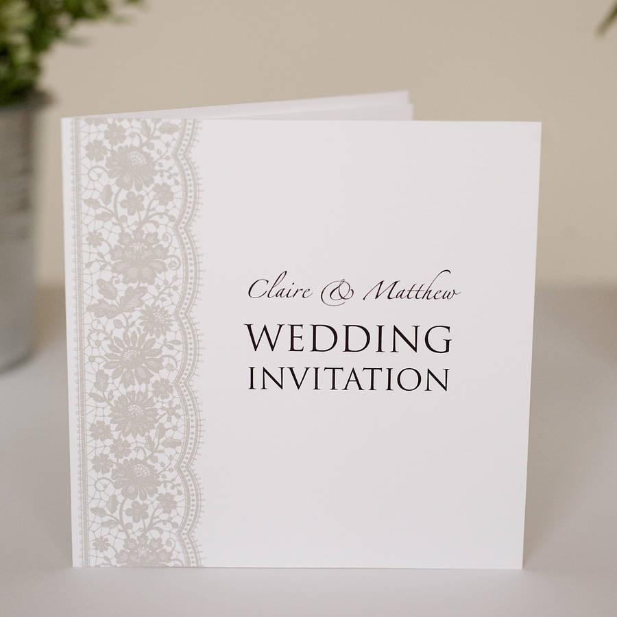Wedding Invitation Trend Delicate Lace Arabia Weddings