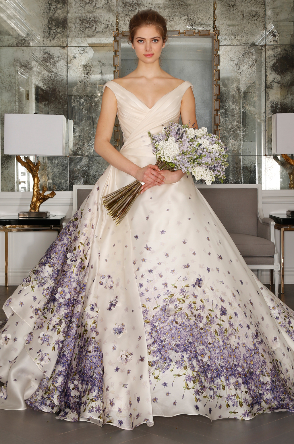 Wedding Dresses With Purple Accents 8 Nice romona keveza bs