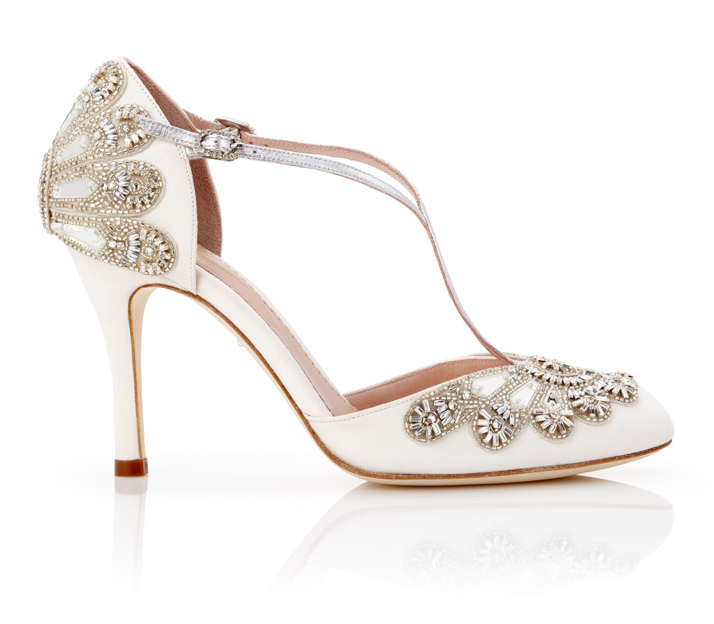 Vintage Ivory Wedding Shoes Uk