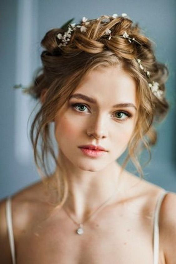 Braided Crowns Hairstyles For the Summer Bride | Arabia ...
