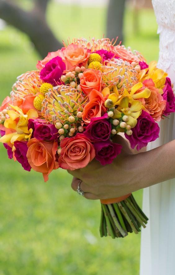 Tropical Bridal Bouquets Arabia Weddings