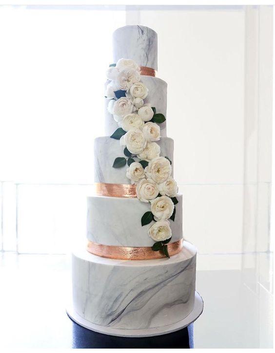 Navy Blue Cakes Wedding
