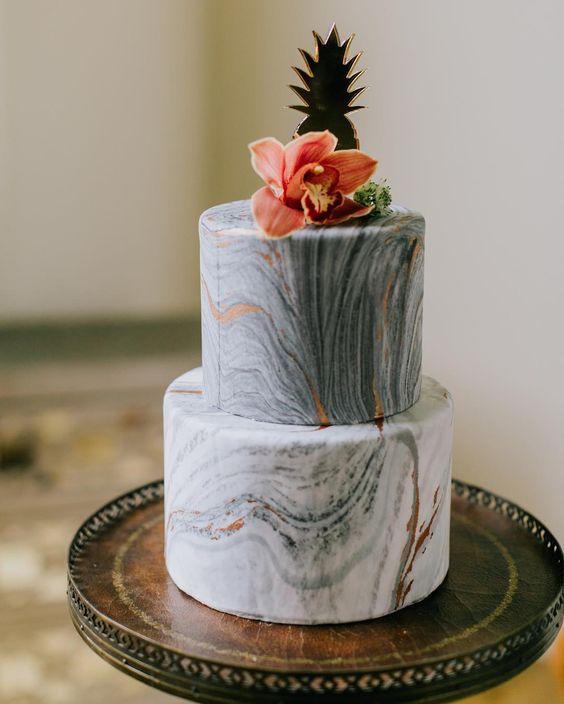 Marble Wedding Cakes Arabia Weddings