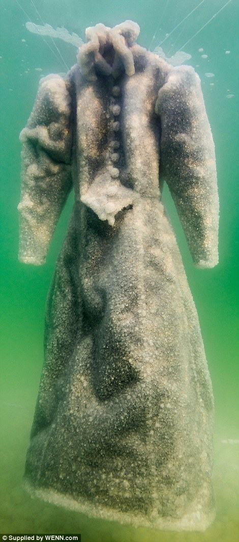 Wedding Dress Transformed After Being Left In Dead Sea