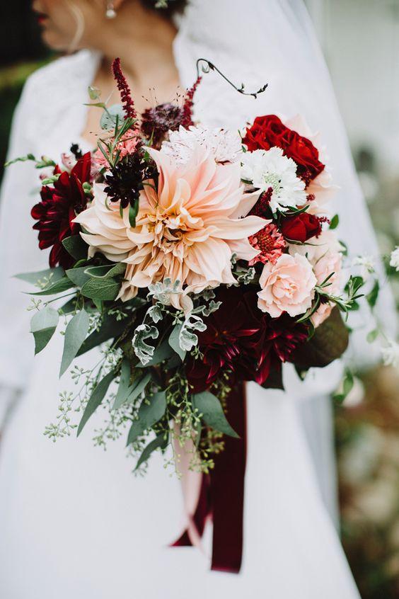 Silk Wedding Flowers 80 Simple fall bridal bouquet