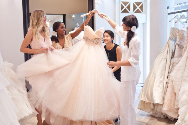 Image result for people shopping for wedding dresses