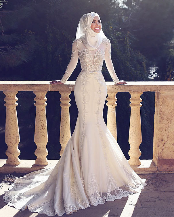 Hijab Wedding Dress 45 Marvelous bridal hijab look