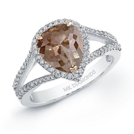 Bulgari Wedding Bands 67 Superb brown diamond ring