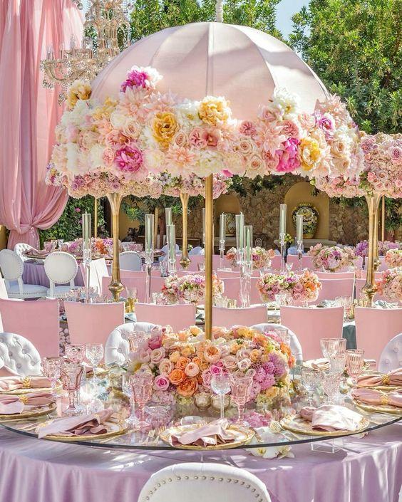 Adorable umbrellas for your wedding centerpieces arabia weddings umbrella wedding centerpieces for some inpiration weddingumbrellas junglespirit Image collections