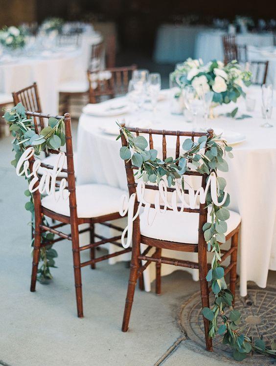 ديكورات زفاف ربيعي مزين بأوراق